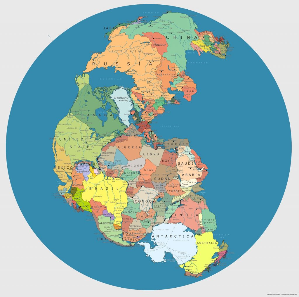 Cum Ar Fi Arătat Harta Lumii Dacă Pangeea Ar Fi Existat Azi