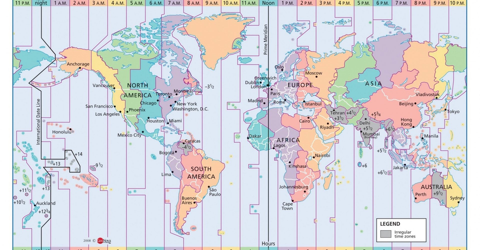 Usa Time Map Now (Favorite)