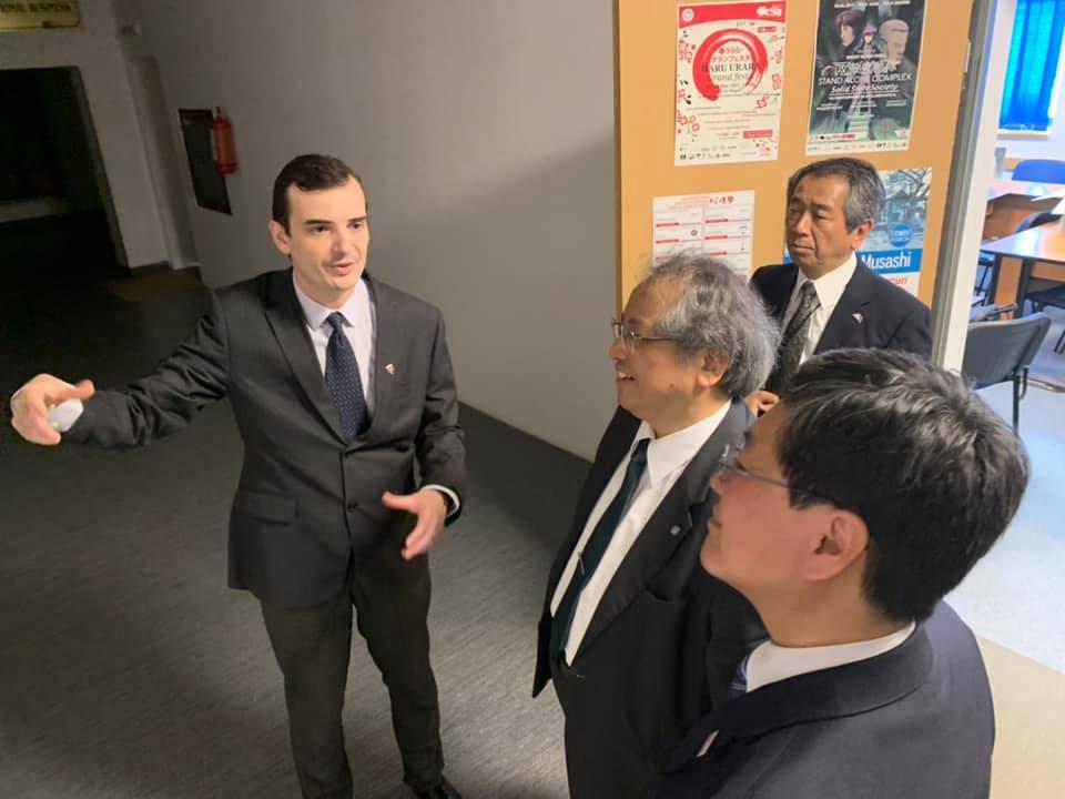 Șerban Georgescu, încercând să întărească relațiile dintre România și Japonia