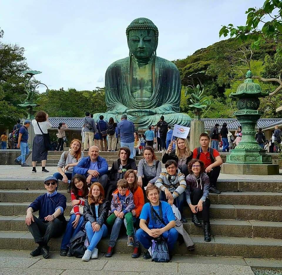 Șerban Georgescu în Japonia alături de tineri interesați de cultura japoneză