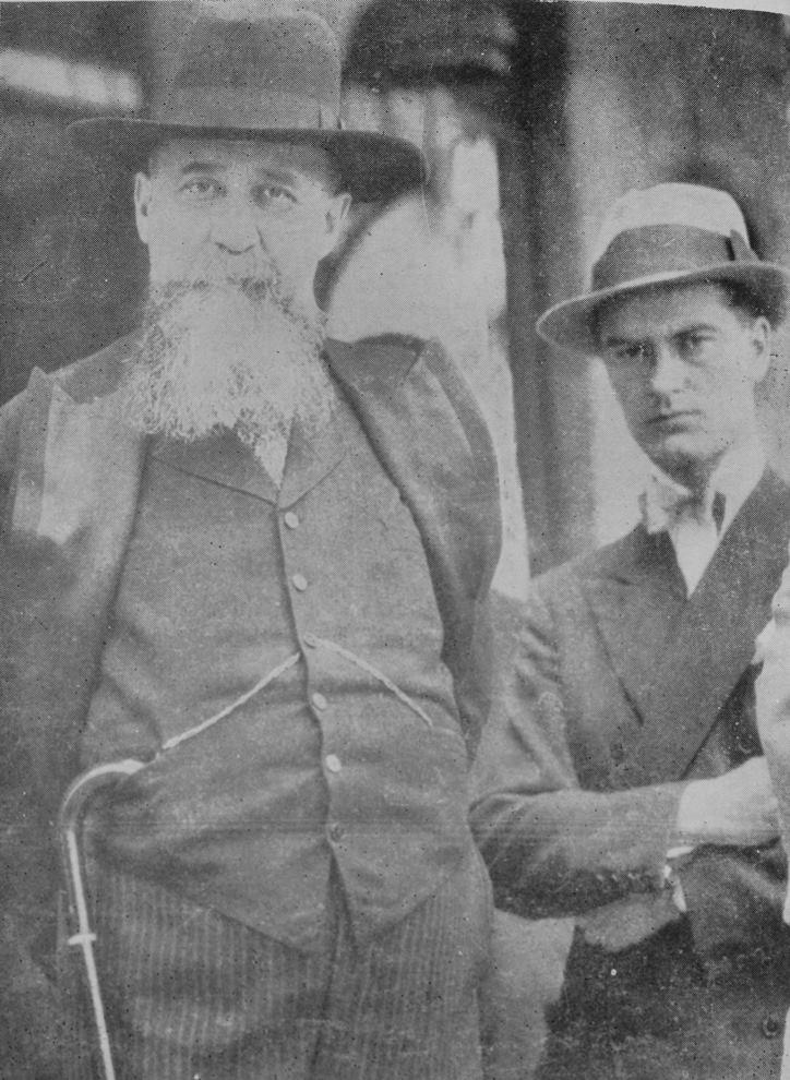 Nicolae Iorga și Barbu Theodorescu, fotografie din 1931