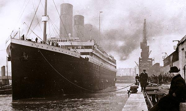 Titanic, fotografiat la Southampton, în aprilie 1912, cu puțin timp înainte de plecare în în călătoria inaugurală | Sursa: Titanic facts