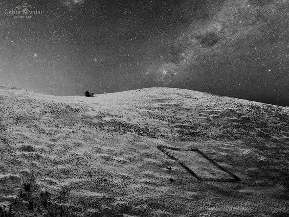 """Sheepfold in Winter night"""