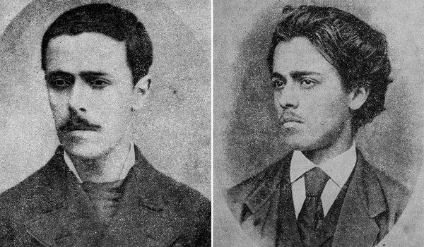 Două fotografii cu un Ion Luca Caragiale tânăr