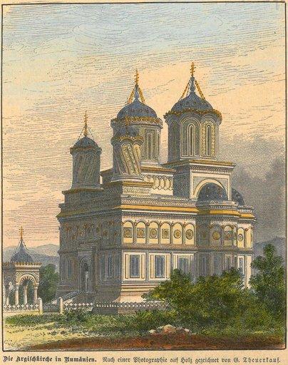 Mănăstirea Curtea de Argeș, 1853, autor: Theuerkauf G.