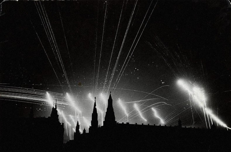 Moscova, 1942, raidul germanilor | Foto: Margaret Bourke-White