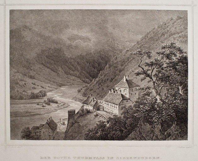 Pasul Turnu Roșu, 1845, autor: J. Falkner