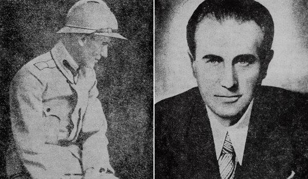 Camil Petrescu, în Primul Război Mondial, 1916 – 1918; Dreapta: Celebra imagine a scriitorului