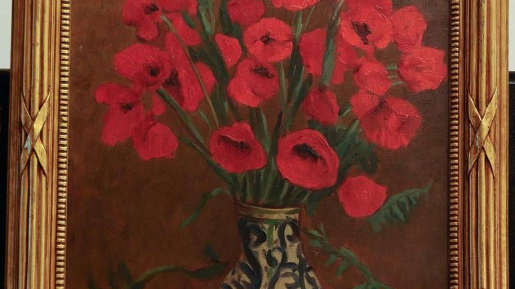 """În 2010, tabloul """"Maci"""" a fost vândut cu 132.000 de euro ; Sursa: Historia"""