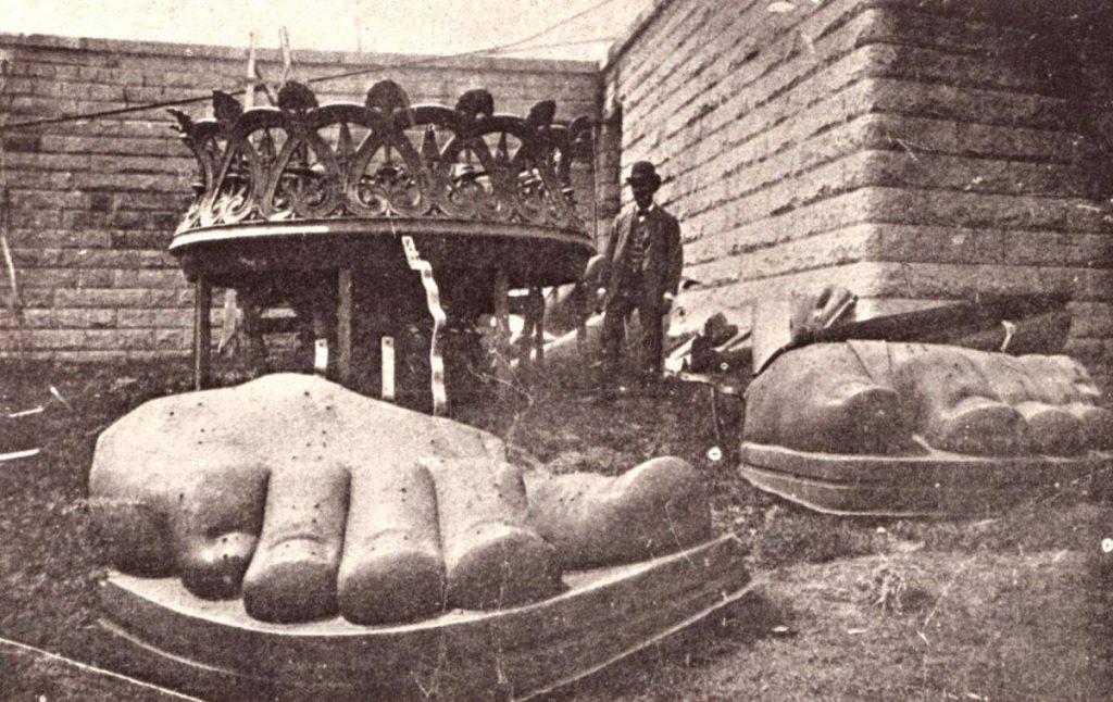 1885, când au a fost adusă din Franța în America Statuia Libertății | Sursa: Wonders of the World
