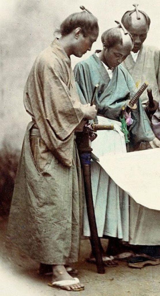 Samurai; Imagine realizată între 1863 – 1900; Sursa: Vintage Everyday