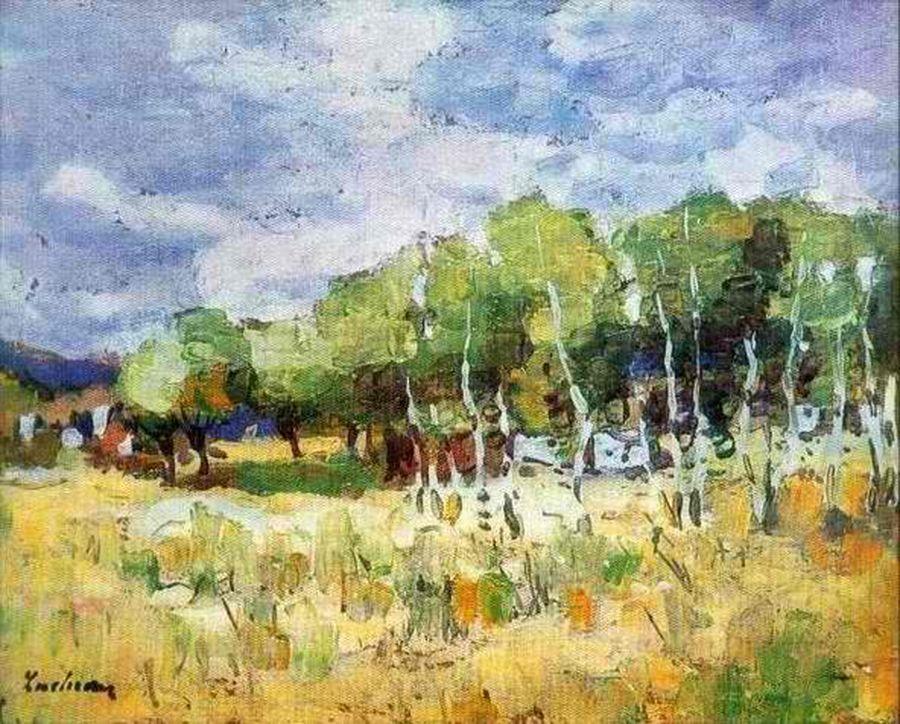 După ploaie la Moinești, 1909; Sursa: Wikipedia