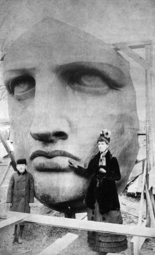 Capul Statuii Libertății, New York, 1885 | Sursa: All That's Interesting