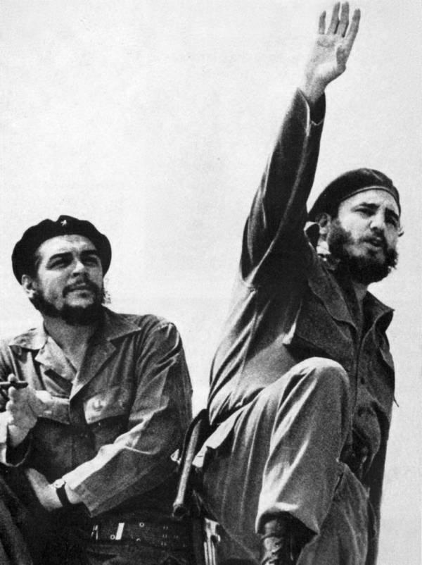 Che Guevara și Castro. Sursă: allthatsinteresting.com
