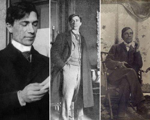 Pictorul în trei etape ale vieții, în anii 1900, 1905 și 1910 ; Sursa: Wikipedia