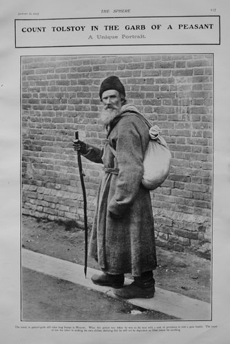 Leo Tolstoi, în veșmânt țărănesc, 1905Credit: Getty Images ; Sursa: Prints and Ephemera