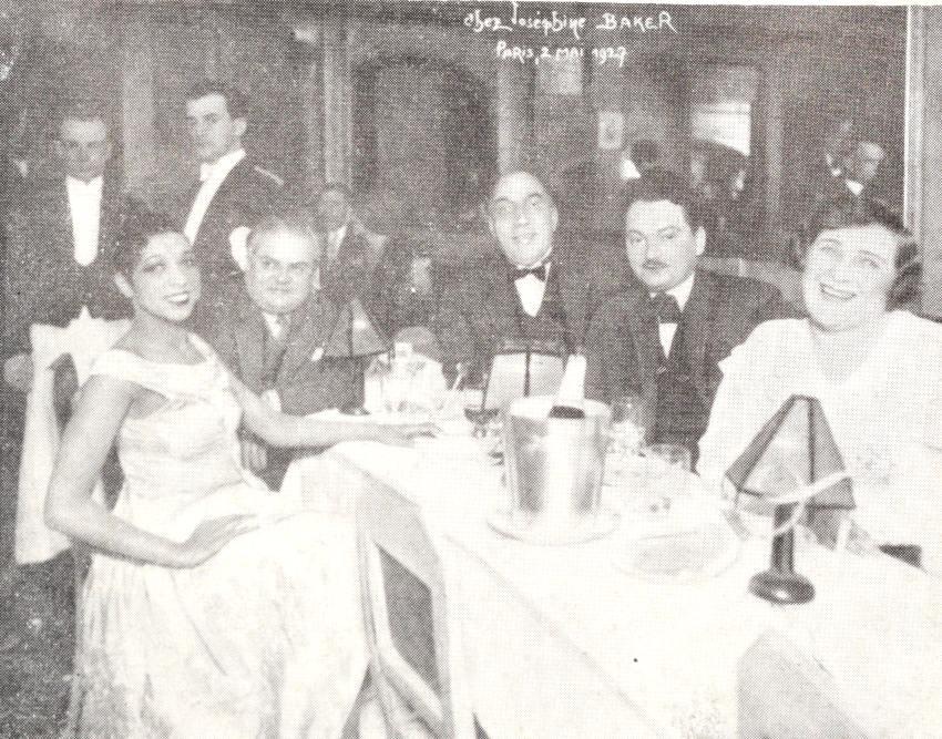 Constantin Tănase alături de Josephine Baker, Paris 1927 | Sursa foto: Tănase, autori Ioan Massoff, Radu Tănase