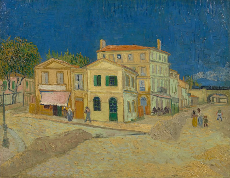 Casa Galbenă de la Arles; Artist: Vincent van Gogh   Sursa: The Art Newspaper