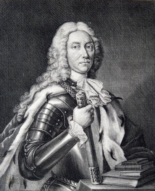 Portretul lui Dimitrie Cantemir care a apărut în prima ediție a lucrării în latină, Descriptio Moldaviae | Sursa: Wikipedia