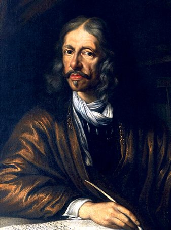 Johannes Hevelius (Jan Heweliusz), portret în ulei de Daniel Schultz