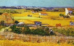 La Moisson (Recolta), Arles, iunie 1888; Artist: Vincent van Gogh  Sursa: Fondation Vincent van Gogh Arles