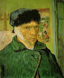 Vincent Van Gogh, autoportret cu urechea bandajată, ianuarie 1889   Sursa: Wikimedia Commons
