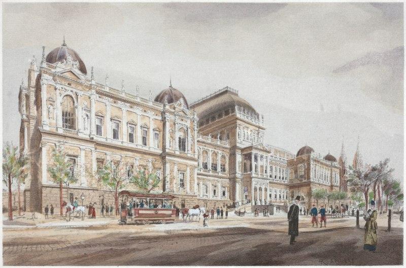 Clădirea principală a Universității din Viena, în vremea când Eminescu era student acolo | Sursa: Geschichte der Universität Wien