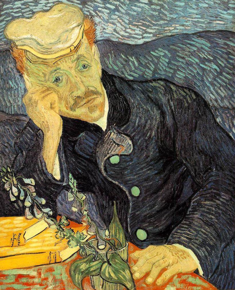 Portretul doctorului Gachet; Vincent van Gogh, 1890   Sursa: Wikipedia, Domeniu public