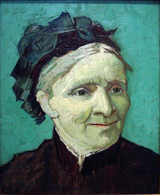 Mama artistului, portret realizat de van Gogh în 1888   Sursa: Wikipedia, Domeniu public