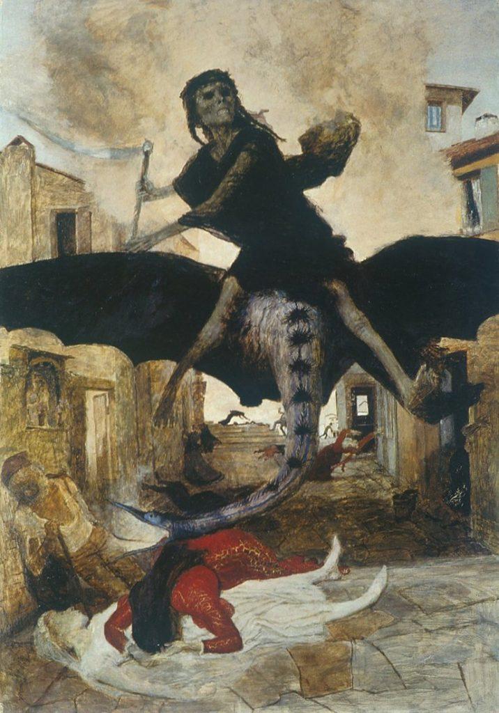 Ciuma, o faimoasă pictură făcută în 1898 de Arnold Böcklin | The Dark Side of History