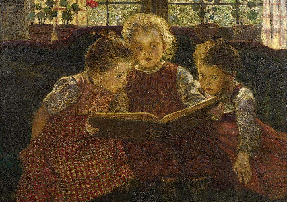The fairy tale (Basmul), pictură de Walther Firle | Sursa: Wikipedia, domeniu public