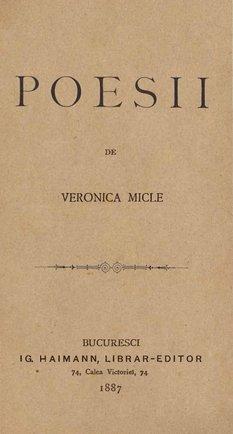 Volumul de Poesii de Veronica Micle, publicat în 1887