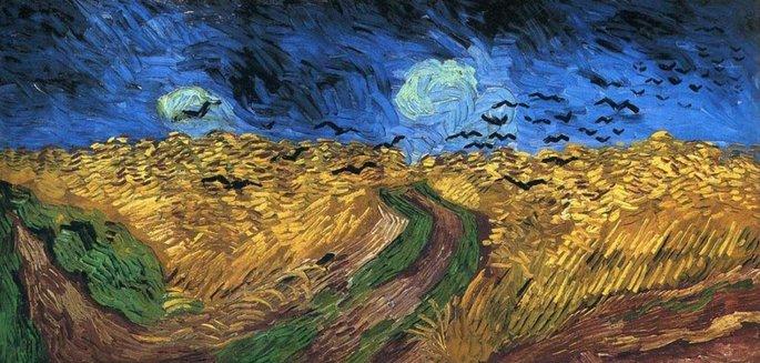 Lan de grâu cu corbi, Vincent van Gogh, 1890   Sursa: VincentvanGogh.org