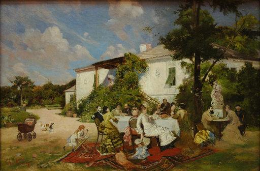Petrecere, pictură de Theodor Aman | Pictify
