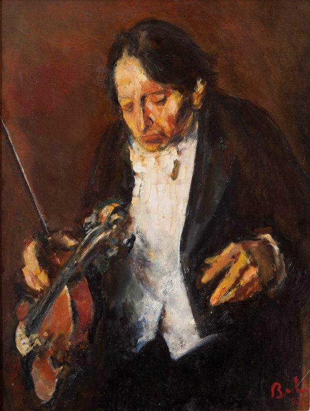 George Enescu, pictură de șevalet – Corneliu Baba | Muzeul Național de Artă al României | Patrimoniul Cultural Naţional