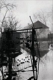 Pescărie în Delta Dunării | Fotografie: Iosif Berman; Arhivă: Muzeul Țăranului Român