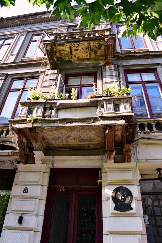 Casa din București, acum pe strada Franceză, unde s-a născut Iulia Hasdeu | Credit foto: Mira Kaliani