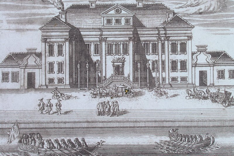 Primul palat de iarnă al lui Petru cel Mare, desen de Alexei Zubov | Sursa: Saint-Petersburg