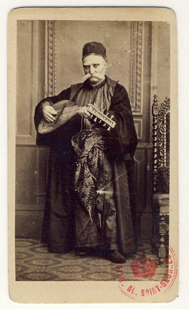 Matei Millo, în rolul Barbu Lăutaru | Fotografie de Károly Szathmári, 1864 | Sursa: World Digital Library