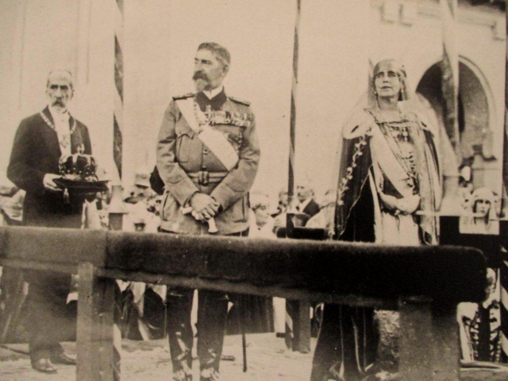 Regele Ferdinand și regina Maria, ceremonia încoronării, 15 octombrie 1922   Fotografie: Samoilă Mârza