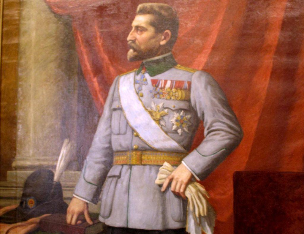 Regele Ferdinand, pictură de V. Leon