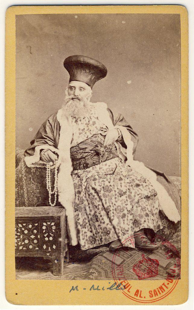 Matei Millo, în rolul unui boier bătrân | Fotografie de Károly Szathmári, 1864 | Sursa: World Digital Library