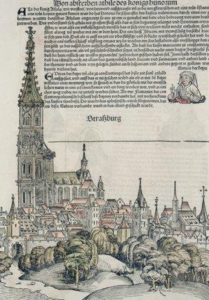 Epidemia de dans Strasbourg 1518Strasbourg, ilustrație, Cronica de la Nürnberg