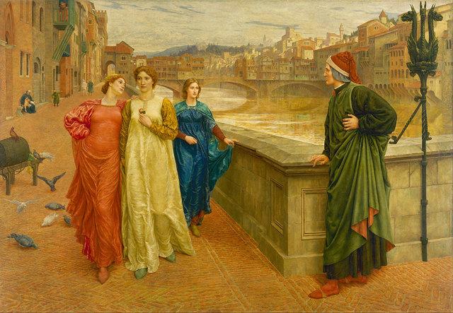 Dante și Beatrice, pictură de Henry Holiday | Sursa: Wikimedia, domeniu public
