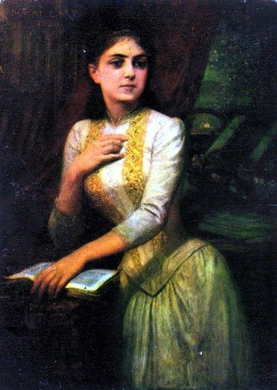 În bibliotecă, portret de Diogène Maillart | Sursa: Ocean's Bridge