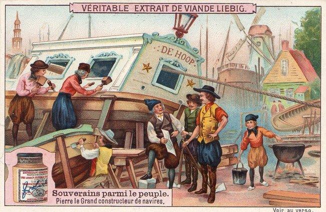În timpul călătoriei europene, Petru I a învățat cum se construiesc navele | Sursa: Awesome stories