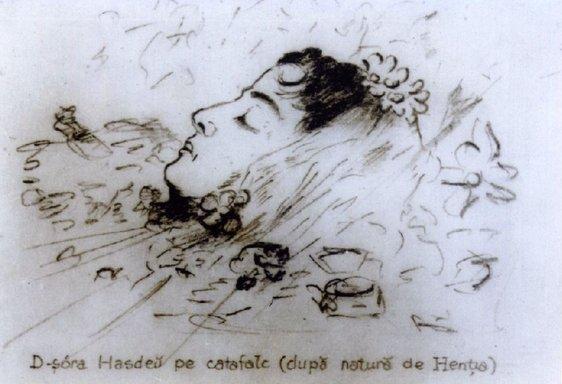 Iulia pe catafalc | Sursa: Muzeul Hasdeu