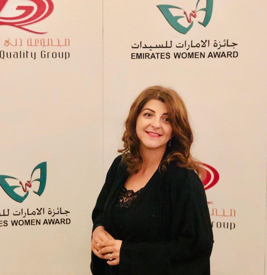 Nicoleta, la Emirates Woman Award