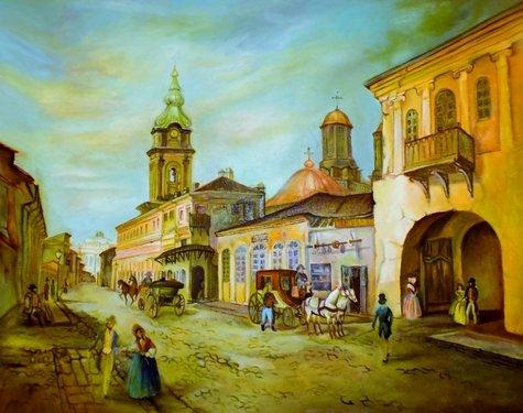 Iași, strada Mare, mijlocul secolului al XIX-lea | Sursa: Iași orașul meu, Sergiu Amarandi