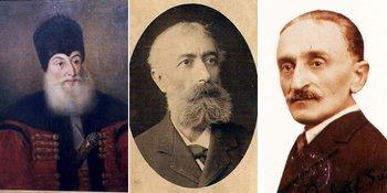 De la stânga: Domnitorul Alexandru Suțu; Alexandru Grigore Suțu; Rudolf Suțu | Surse imagini: Wikipedia